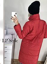 Удлиненная куртка на синтепоне женская, фото 3