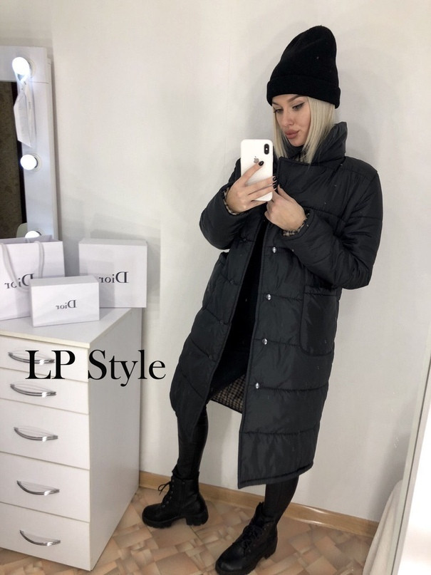 Черная куртка удлиненная женская