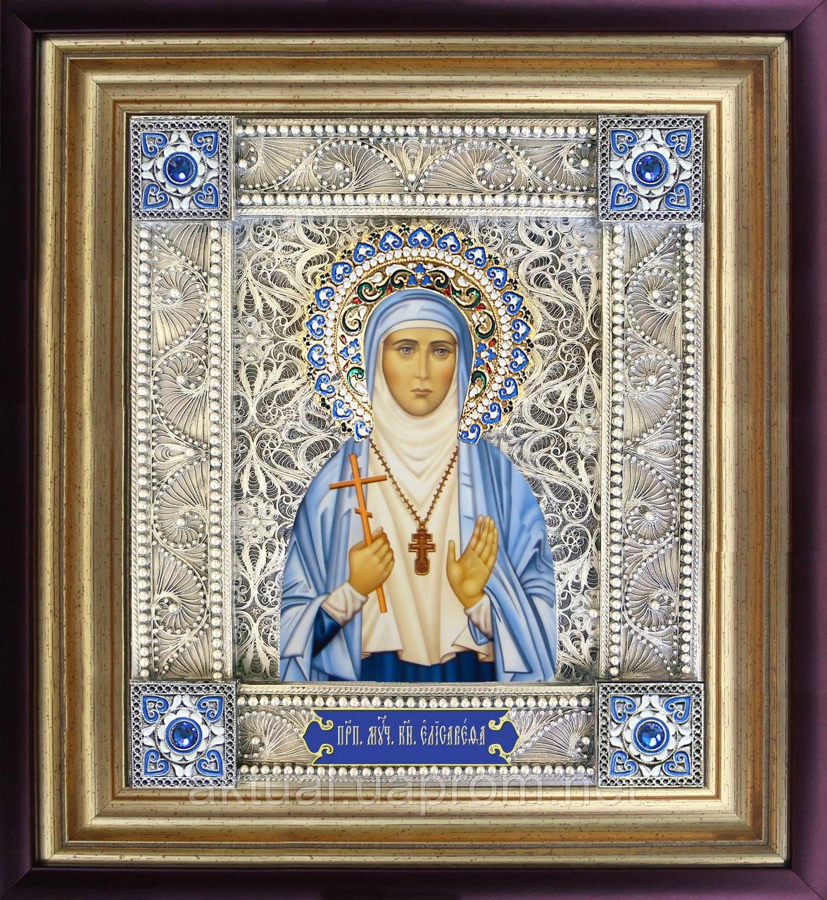 Святая Елизавета икона  скань