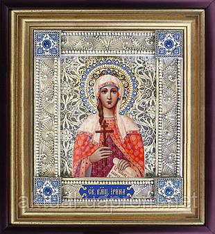 Святая Ирина скань икона