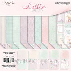 Набор двусторонней бумаги 20х20см от Scrapmir Little Bunny 10шт