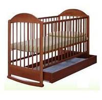 Детская кроватка АГУ Симба с ящиком (орех)