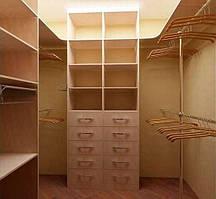 Гардеробная комната внутренее наполнение