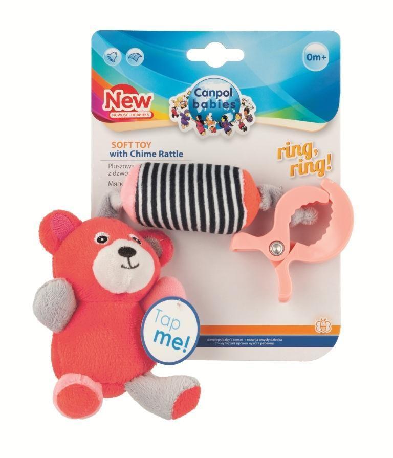 Canpol babies игрушка плюшевая с колокольчиком BEARS 0+