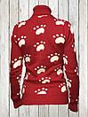 Женский шерстяной свитер Красного цвета, фото 3
