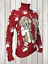 Женский шерстяной свитер Красного цвета, фото 2