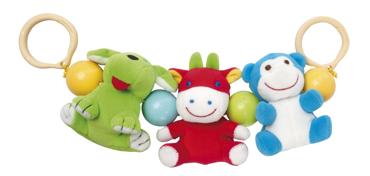 Брязкальце на коляску «Веселі тваринки»Canpol Babies