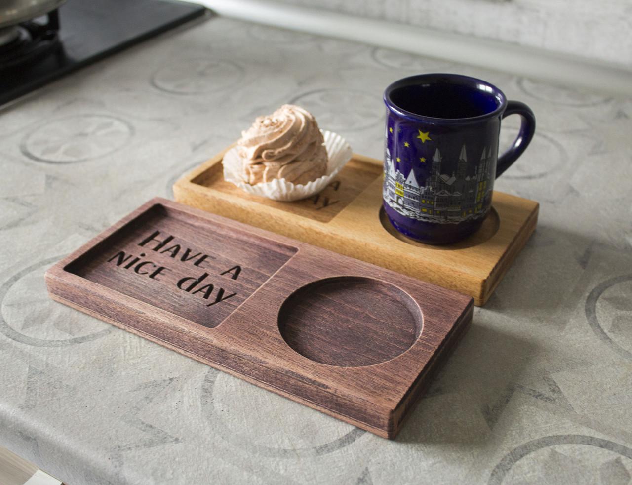Подставка под чашку деревяная