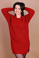 Женское теплое платье-туника оверсайз 44-52. Турция