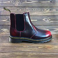 Женские кожаные ботинки челси в стиле Dr. Martens Chelsea Red 80ed44bd4a855