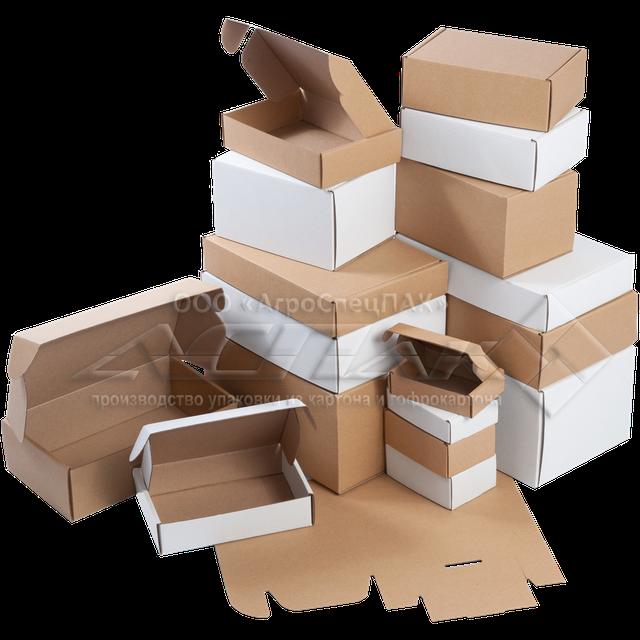 Купить картонные коробки самосборные из микрогофрокартона оптом от производителя АгроСпецПак в Киеве. Изготовление картонных коробок на заказ. Упаковочные коробки в ассортименте.