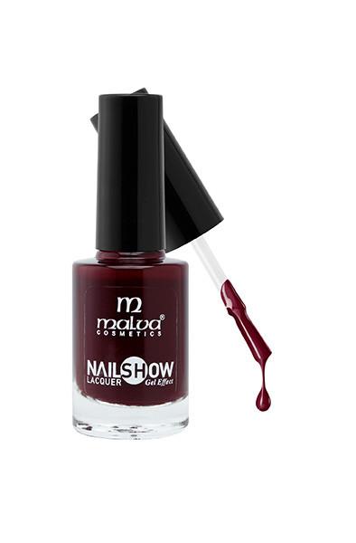 Лак для ногтей РМ-1002 Malva Cosmetics Nailshow Lacquer Gel Effect 15