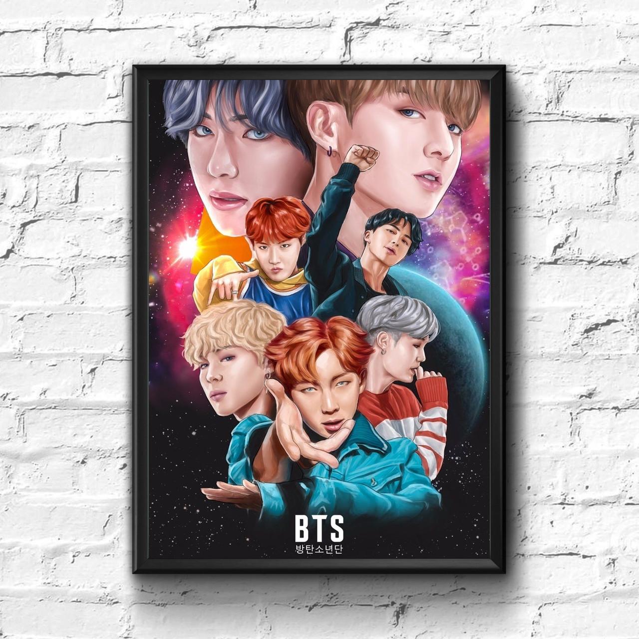Постер с рамкой BTS #2