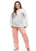 Женская теплая пижама большого размера, фото 1