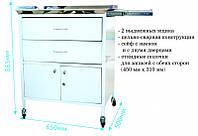 Столик анестезиолога СА-5,  Стол анестезиолога медицинский столешница с нержавеющей стали