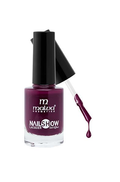 Лак для ногтей РМ-1002 Malva Cosmetics Nailshow Lacquer Gel Effect 40