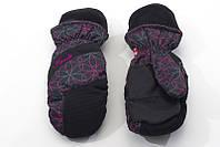Перчатки Kombi DOWNY WG WMN MITT, черные с фиолетовым, размер L