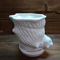 Горшок Ракушка керамический 0,5л. h=115мм  В17, фото 1