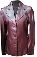 Куртка пиджак кожаная женская