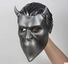 Маска музыкальной группы Ghost(Гоуст) взрослая латекс, резиновый шлем демона, фото 3