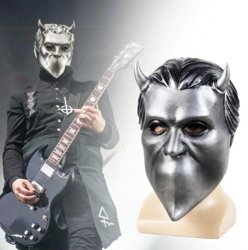 Маска музыкальной группы Ghost(Гоуст) взрослая латекс, резиновый шлем демона