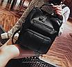 Рюкзак женский кожзам городской Practical черный, фото 3