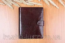 Портмоне мужское кожаное вместительное, натуральная кожа, фото 2