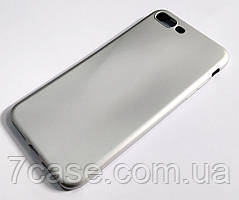 Чехол для Apple iPhone 7 Plus / 8 Plus силиконовый Fashion Case серебристый