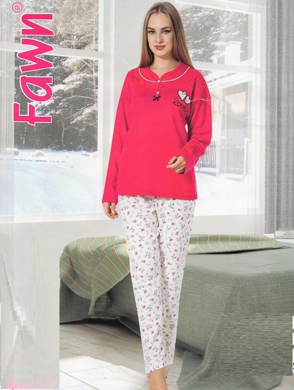 27ef9d884bbd Тёплая женская пижама большого размера Турция — купить недорого в ...