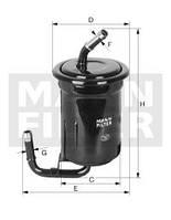 Фильтр топливный на MAZDA 626 GD и GV двиг.2.0; 2.2 (MANN)
