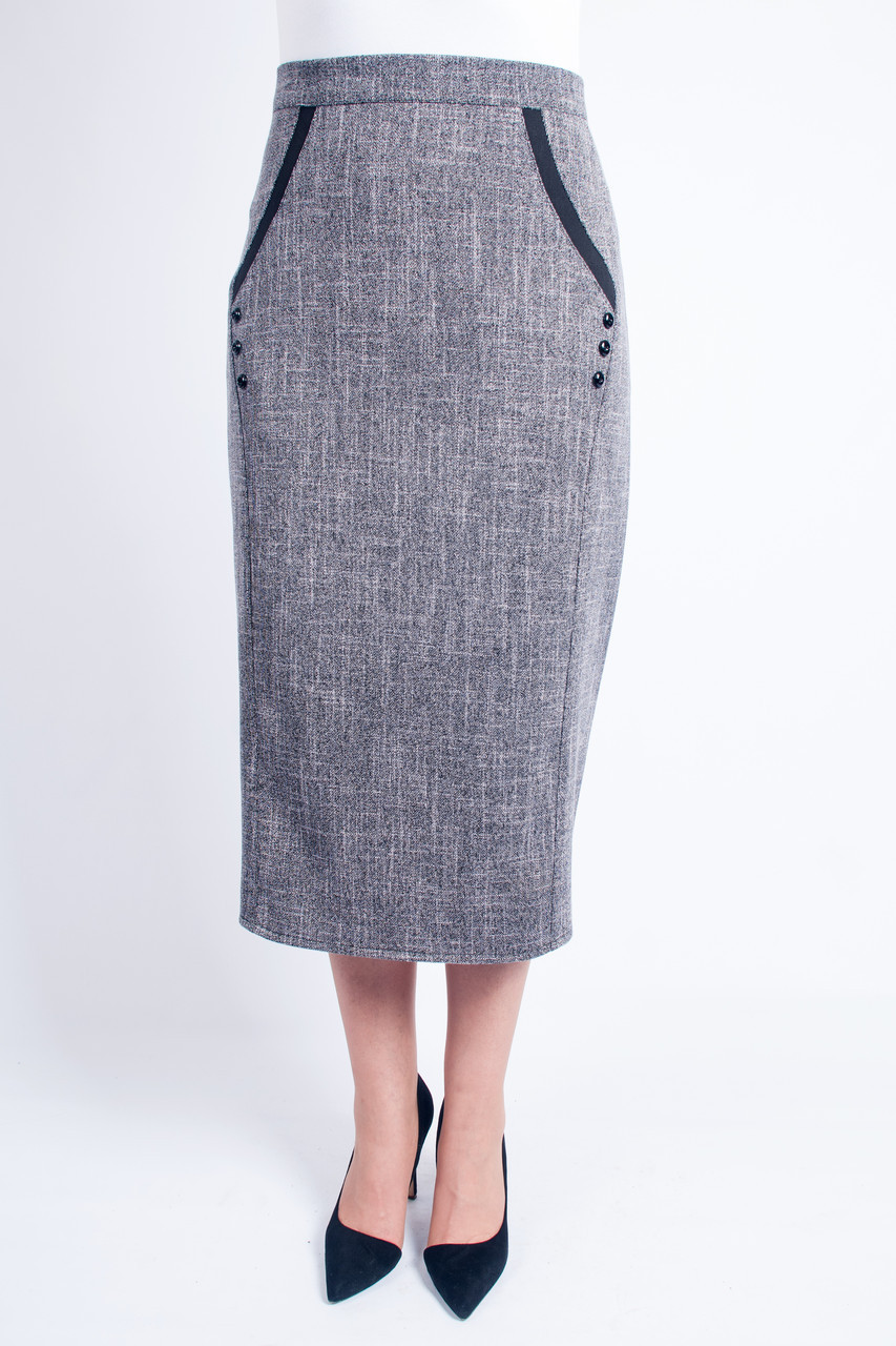 747facc6e5d Женская юбка Божена светло серая - интернет-магазин