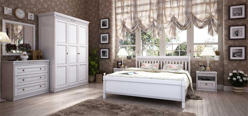 Спальня 5 Марсель Мебус белая