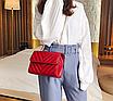 Сумка женская через плечо на цепочке Olivia Красный, фото 4