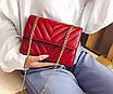 Сумка женская через плечо на цепочке Olivia Красный, фото 7