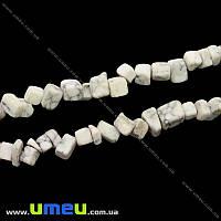 Скол (крошка) натуральный камень Говлит, 5-8 мм, 1 нить, (88-90 см), (BUS-028678)