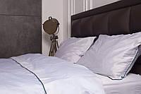 Комплект постельного белья с кантом из сатина Горный хрусталь