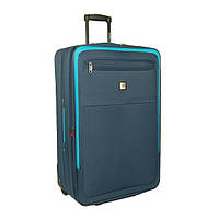Большой чемодан синий тканевый 2 колеса Skyflite Transit Navy (L) Валіза велика тканева синя 2 колеса
