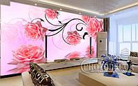 """Фотообои """"3D розовые розы 1"""""""