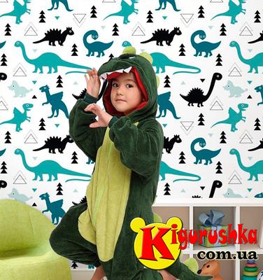 Купить кигуруми детскую пижаму Динозавра зелёного цвета в Киеве в ... 296a68b2dd03f