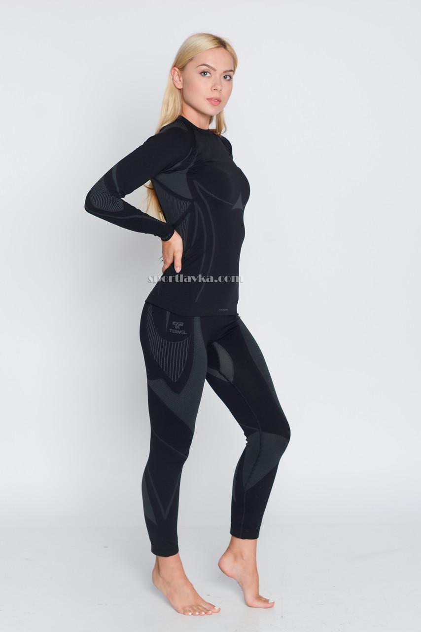 Термокофта женская спортивная Tervel Optiline (original), лонгслив, кофта зональная, бесшовная, термобелье