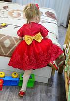 Платье нарядное детское  на девочку с бантом красное 2-6 лет, фото 2