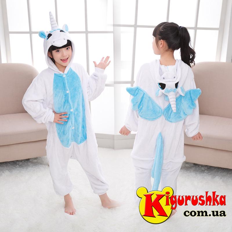 Детская пижама кигуруми Единорог Голубое облачко - Интернет-магазин