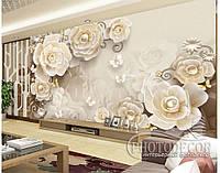 """Фотообои """"3D розы и бабочки 1"""", фото 1"""