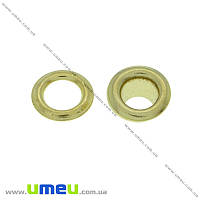 Люверсы металлические, 10 мм, Золото, 20 шт (SEW-024070)
