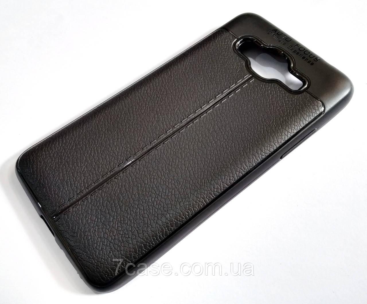 """Чехол для Samsung Galaxy J2 Prime G532 силиконовый Autofocus """"под кожу""""черный"""
