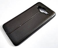 """Чехол для Samsung Galaxy J2 Prime G532 силиконовый Autofocus """"под кожу""""черный, фото 1"""