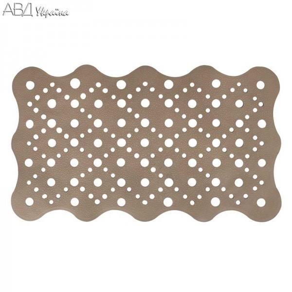 2091487 Килимок для ванни,коричневий 68*39,5