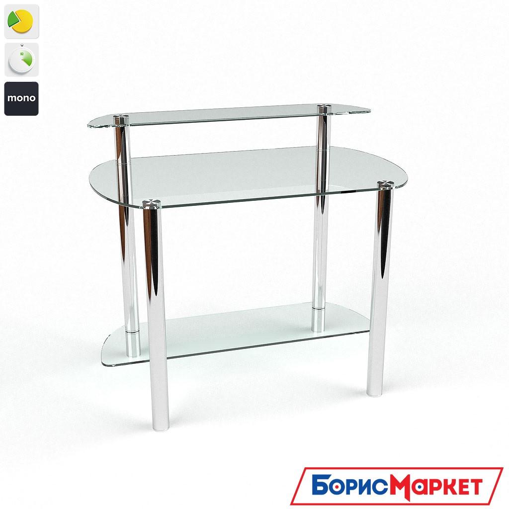 Компьютерный стол стекляный Эфир от БЦ-Стол