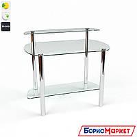 Компьютерный стол стекляный Эфир от БЦ-Стол, фото 1