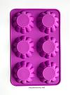 Силиконовая форма для выпечки в духовке (Кекс волна) розовая, фото 2
